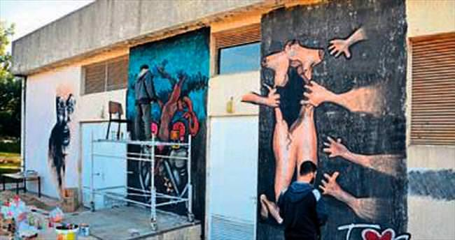 AÜ'de kadın dostu grafiti çalışması