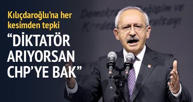 Diktatör arıyorsan CHP'ye bak