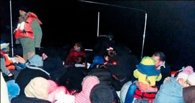 Kaş'ta yine Suriyeli kaçaklar yakalandı