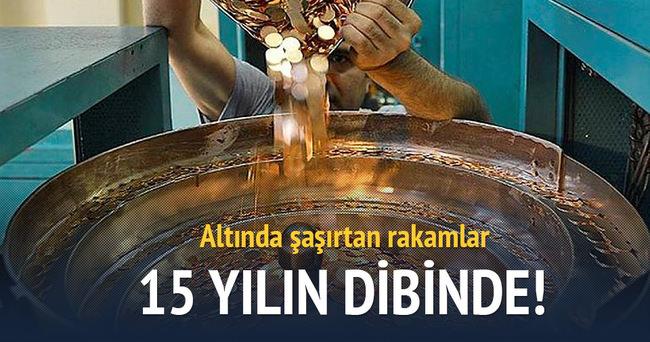 Darphane'nin altın üretimi 15 yılın dibinde