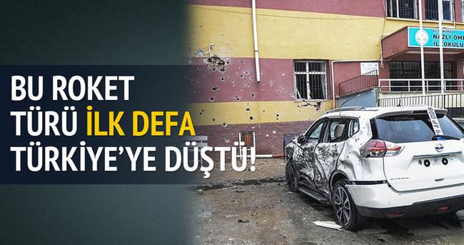 Bu tür roketler ilk defa Türkiye'ye düştü!