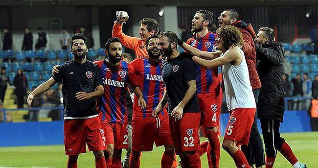 Kardemir Karabükspor'da liderlik sevinci