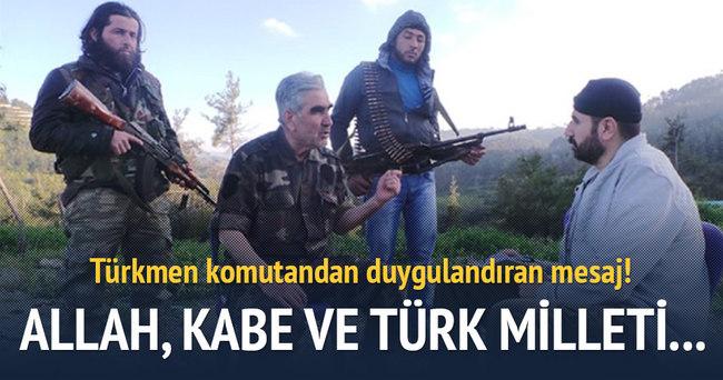 Türkmen komutandan duygulandıran sözler