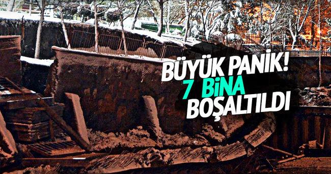 İstanbul'da göçük paniği, 7 bina boşaltıldı