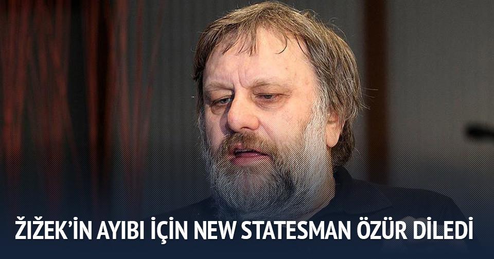Zizek'in ayıbı için New Statesman özür diledi