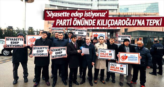 CHP binası önünde Kılıçdaroğlu protestosu