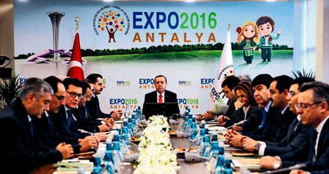 Erdoğan'dan EXPO teftişi
