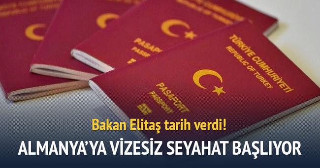 Almanya'ya vizesiz seyahat Ekim 2016'da başlıyor