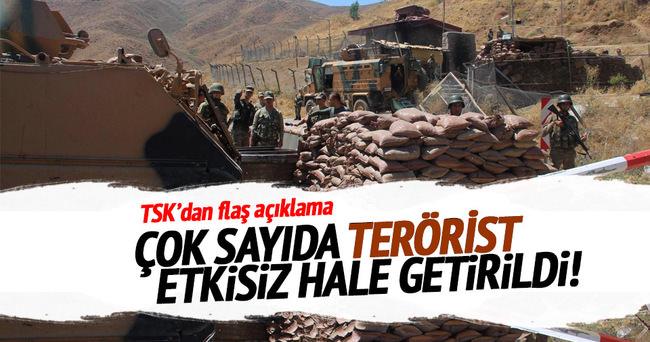 TSK'dan flaş açıklama: 33 terörist etkisiz hale getirildi