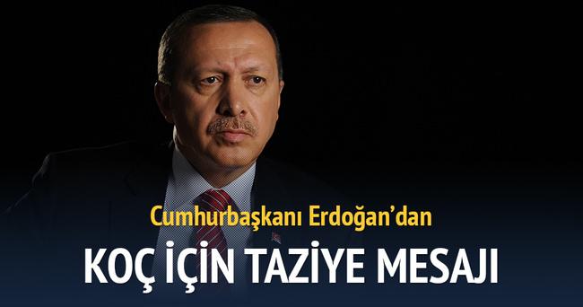Erdoğan'dan Koç için taziye mesajı