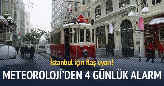 İstanbul'a yarın kar geliyor!