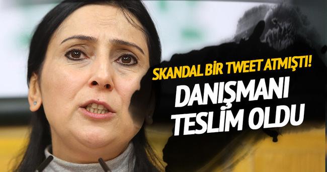 Figen Yüksekdağ'ın danışmanı teslim oldu, tutuklamaya sevkedildi