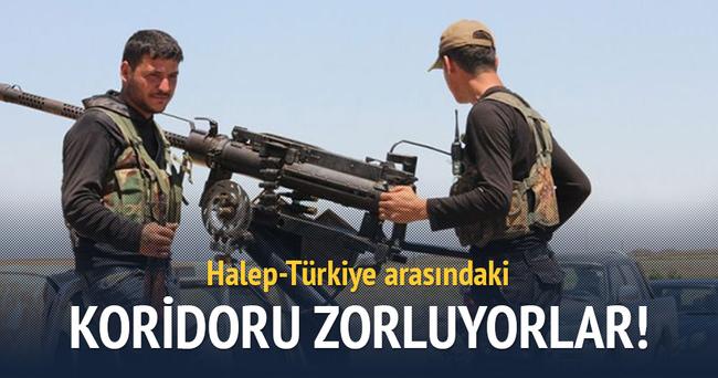 PYD, Halep-Türkiye koridorunu zorluyor