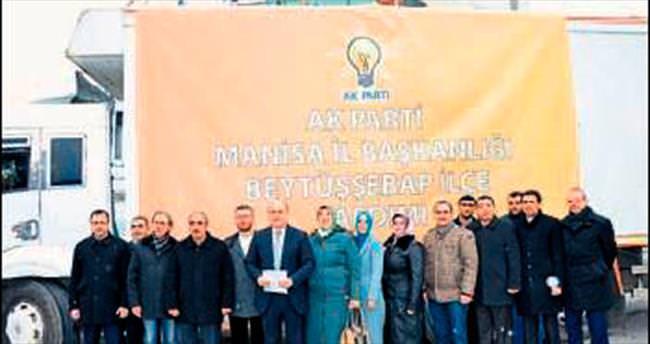 Terör mağdurlarına Manisa'dan destek