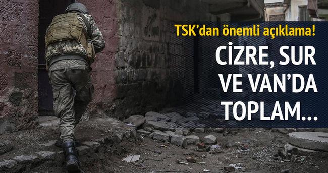 TSK açıkladı! 26 terörist öldürüldü