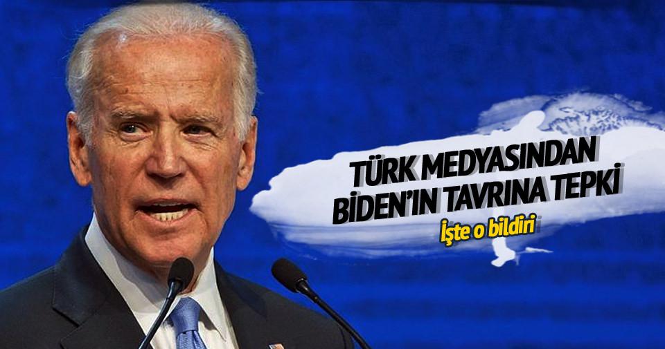 Türk medyasından Joe Biden'a tepki