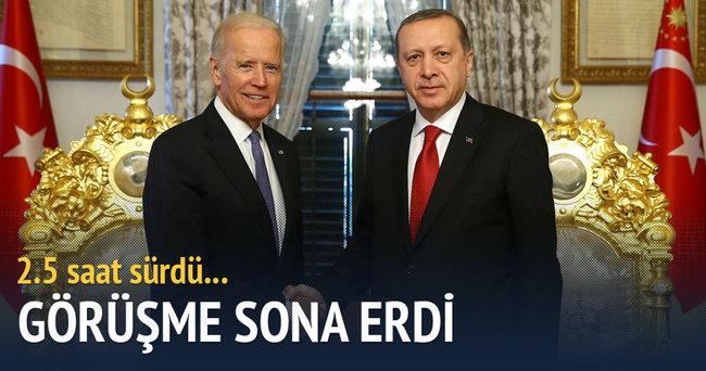 Erdoğan ile Biden görüşmesi sona erdi