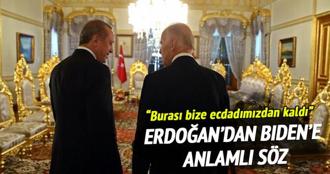 Biden'la Erdoğan'ın Mabeyn Köşkü diyalogu