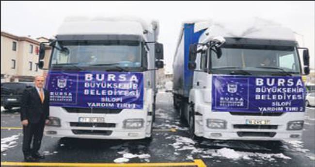 Silopi'ye Bursa'dan yardım malzemesi