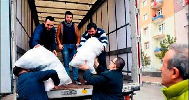 Türkmenler için 1 TIR dolusu yardım