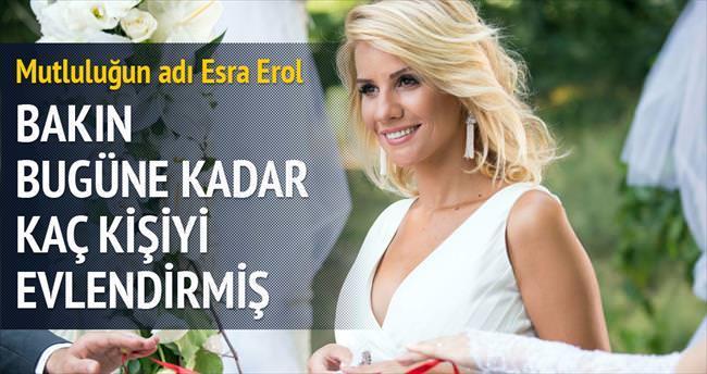 Esra Erol 10 yılda 325 çifti evlendirdi