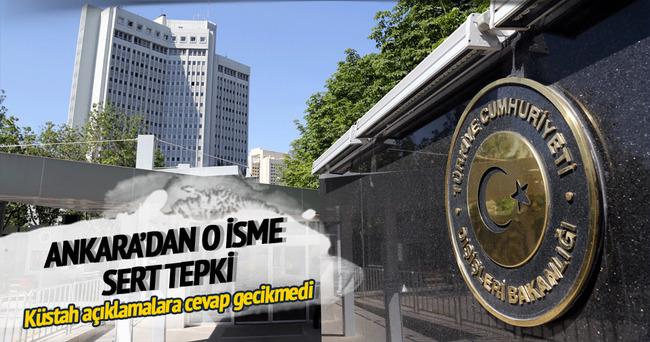 Ankara'dan Yunan bakanın açıklamalarına sert tepki