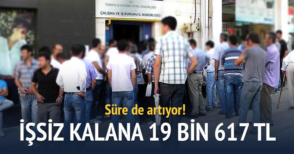 İşsiz kalana 19 bin 614 lira maaş verilecek