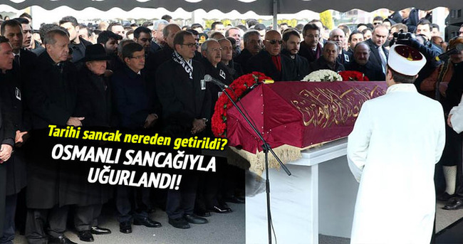 Mustafa Koç Osmanlı sancağı ile uğurlandı