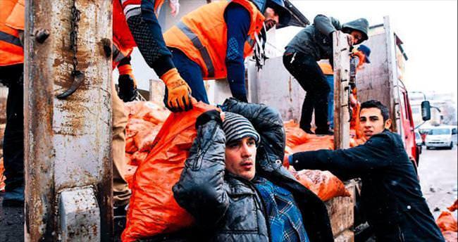 Suriyeli mültecilere 200 ton kömür
