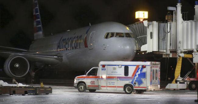 ABD uçağı zorunlu iniş yaptı