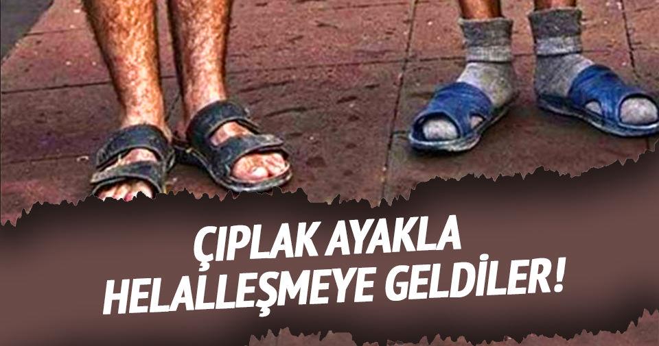 Çıplak ayakla Mustafa Koç'un cenazesine geldiler