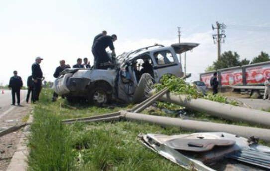 Kırşehir'de trafik kazası:  6 yaralı