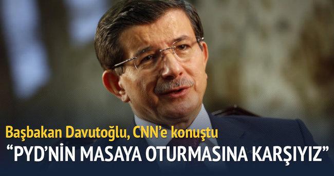 Başbakan Davutoğlu CNN'e konuştu