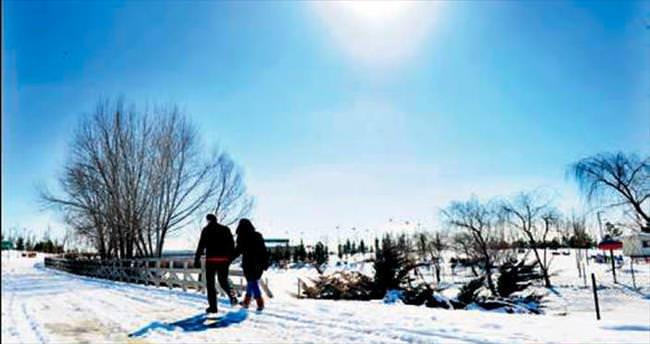 Mogan kar altında daha güzel