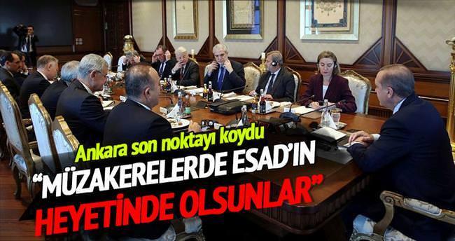 'YPG müzakerelerde Esad heyetinde olsun'