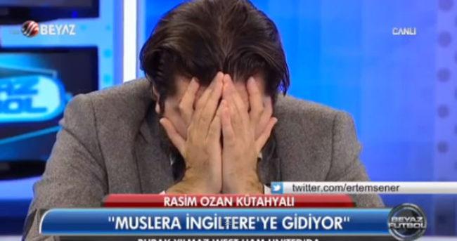 Rasim Ozan, Muslera gidiyor diye ağlayıp stüdyoyu terk etti