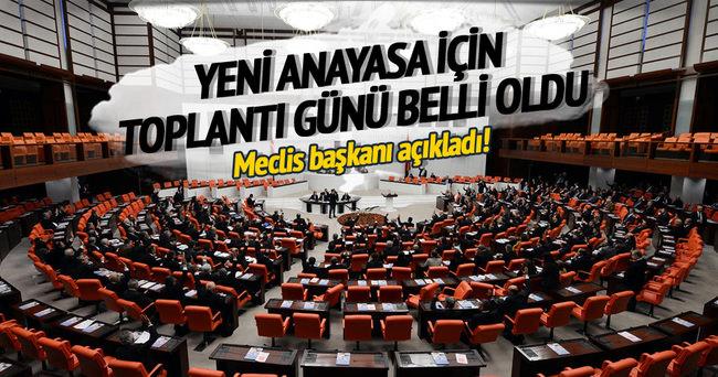 Yeni anayasa için ilk toplantı perşembe günü