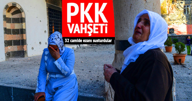 PKK, 32 camide ezanı susturdu