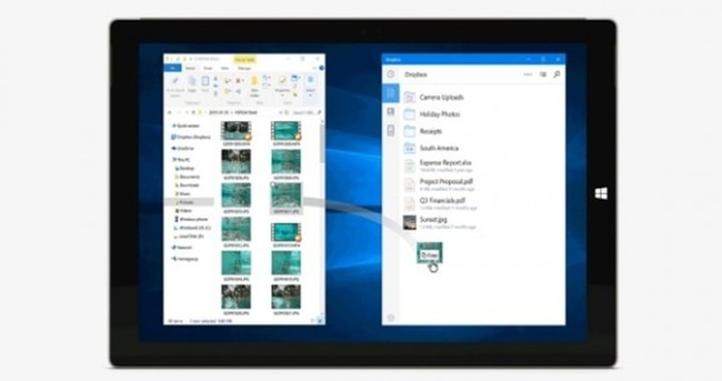 Dropbox Windows 10 tablet'e geldi