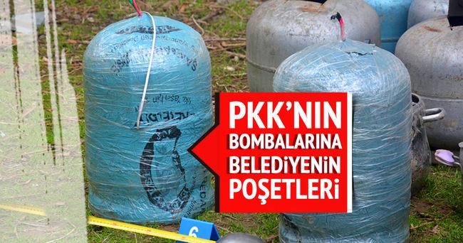 PKK'nın bombalarına belediyenin poşetleri!