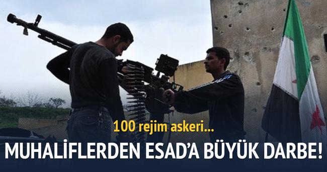 Muhalifler 100 rejim askerini öldürdü