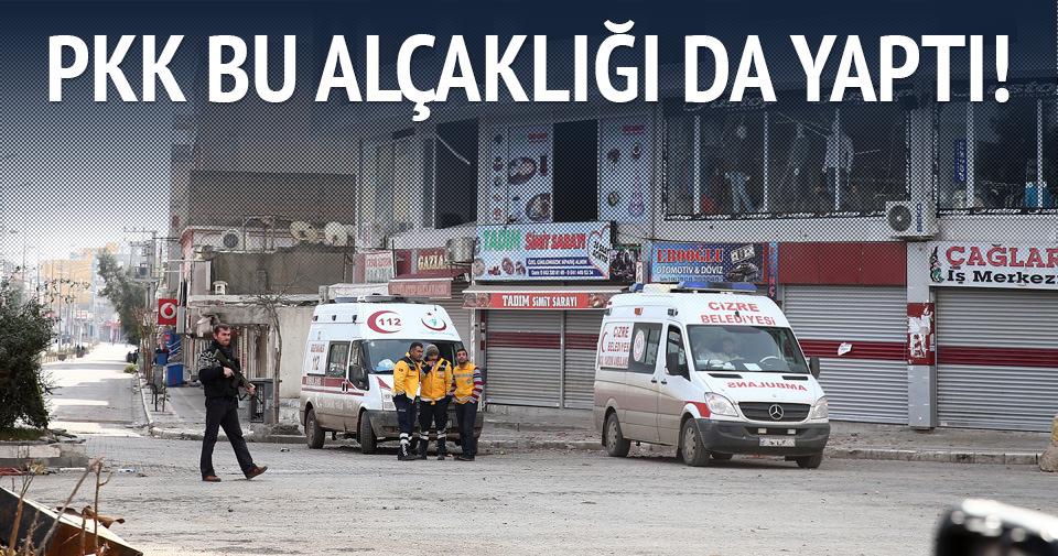 PKK'nın engellediği ambulanslar bir gündür bekliyor