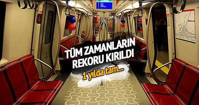 İstanbul'da raylı sistemle ulaşım rekor kırdı