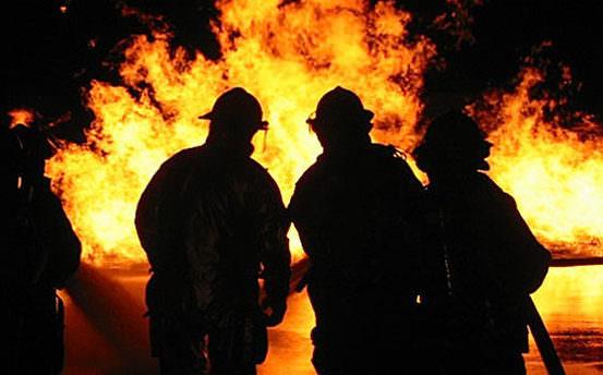 Başkent'te yangın