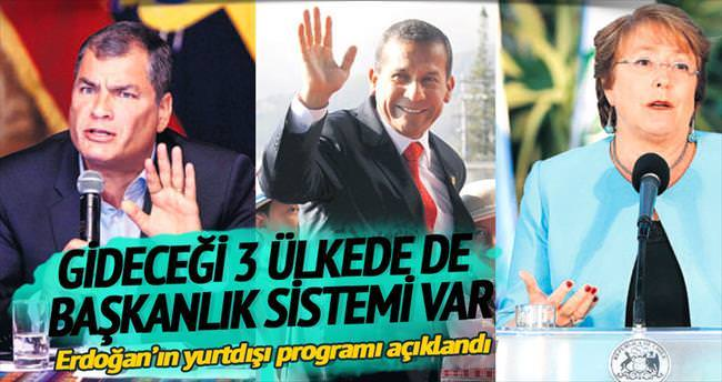 Gideceği 3 ülkede de başkanlık sistemi var