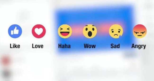 Facebook'ta 'beğen' tuşuna ek emojiler geliyor