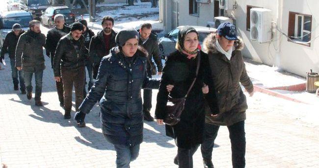 Elazığ'daki terör operasyonunda sanıklar adliyeye sevk edildi