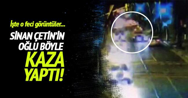 Sinan Çetin'in oğlu böyle kaza yaptı!