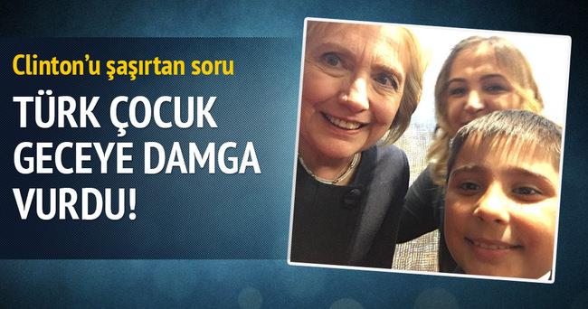 Minik Muhammed'in sorusu Clinton'u şaşırttı