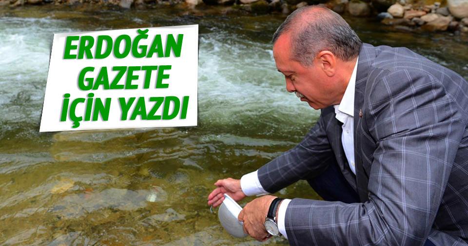 Cumhurbaşkanı Erdoğan Rize'yi yazdı